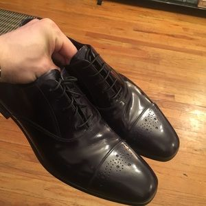 Prada Authentic Dress shoes perforated Oxfords